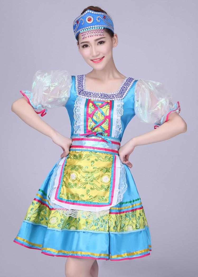 girls Russia dance Dress Children Girls Kids  Party Dress  performance Costume