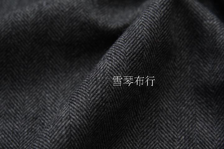 """Envío Gratis, tela de lana 70%, tweed, espiga, gris medio, precio por 1 yardas 59"""""""