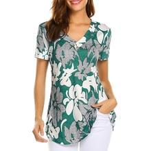 SAGACE de verano blusa de moda casuales de las mujeres de manga corta de moda camisa tops de señora blusa cuello Camisas Blusas de las mujeres