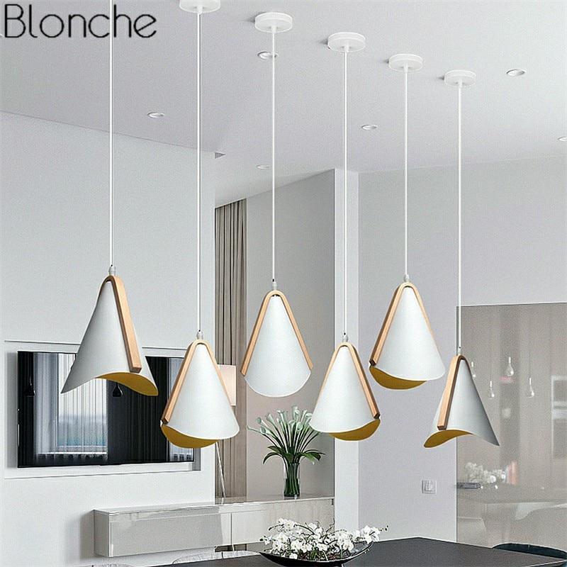 E27 مصباح معلق LED صناعي من الحديد والخشب ، تصميم إسكندنافي حديث ، إضاءة داخلية مزخرفة ، مثالي للدور العلوي أو غرفة المعيشة أو المطبخ أو البار.