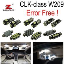 14pc x Canbus LED Lamp Interior dome Light Kit For Mercedes benz CLK class W209 CLK320 CLK430 CLK350 CLK500 CLK550 (03-09)
