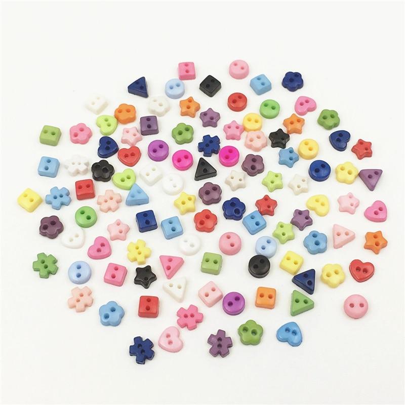 100pcs 6mm Beautiful Mini Tiny Resin Button Sewing  kid's apparel toy doll Decorative  DIY Scrapbooking