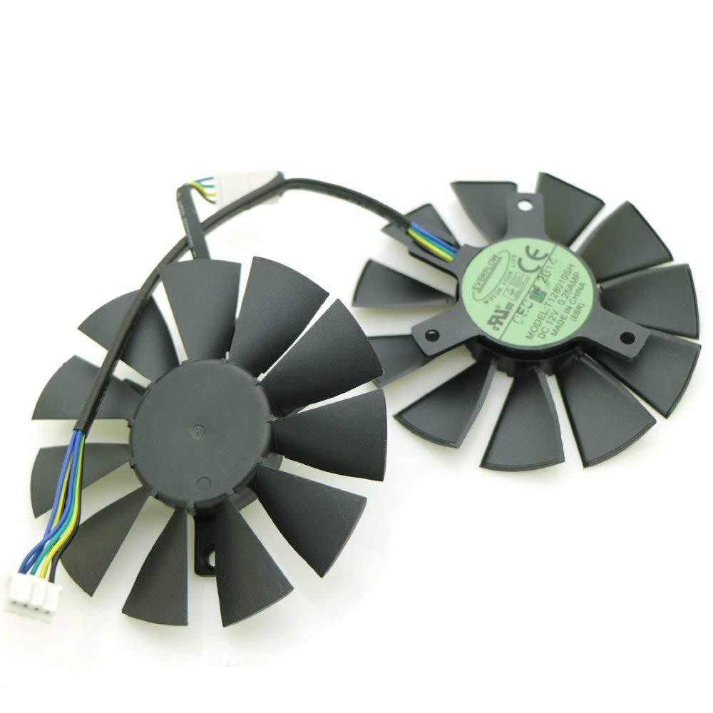 Brand New Graphics Card Cooler DC 12V 0.25A T128010SH 75mm 4Pin for ASUS STRIX GTX1060 1050 GTX960 GTX950 GTX750Ti R9 370