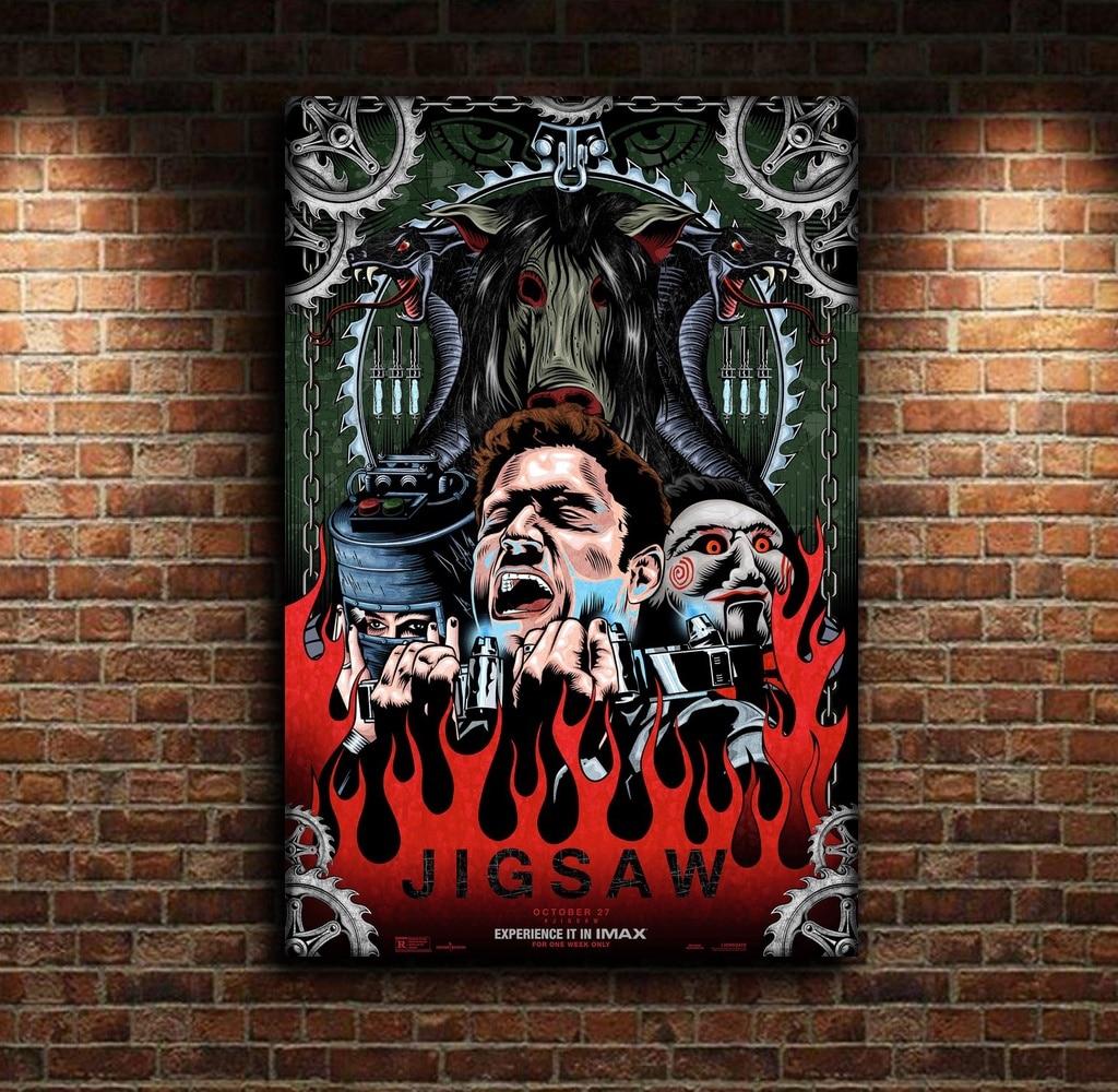Jigsaw ilustraciones película de terror póster película lienzo póster pared arte impresión niños decoración hogar Decoración