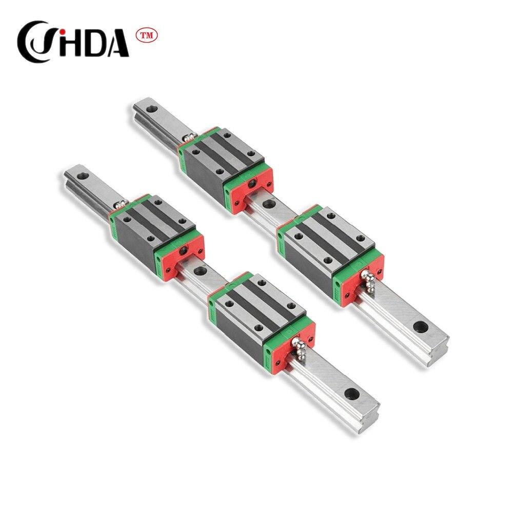 Envío gratis 2 uds el linar carril guía + HGH20 4 Uds HGH20CA HGW20CC lineal guía partes de bloque cnc