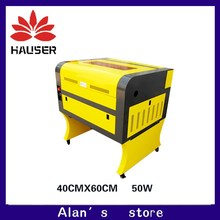 Envío Gratis 50 w 4060 co2 máquina de grabado láser 220 v/100 v máquina de corte láser CNC, grabador láser de alta configuración