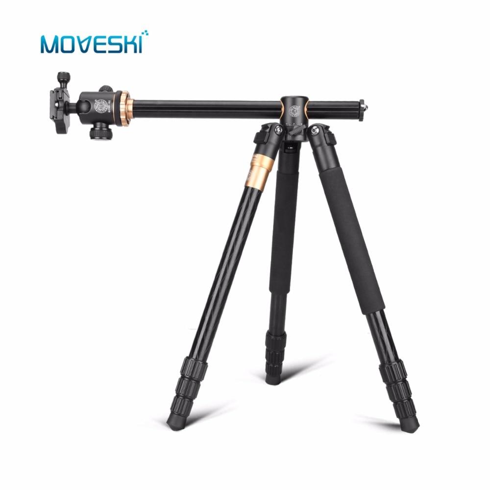 Moveski q999h transversal profissional da liga de alumínio tripé & bola cabeça 360 graus macro tiro para dslr câmera slr