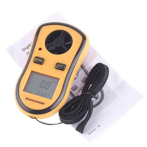 Anemómetro de medición de la velocidad y temperatura del viento LHLL-LCD Digital