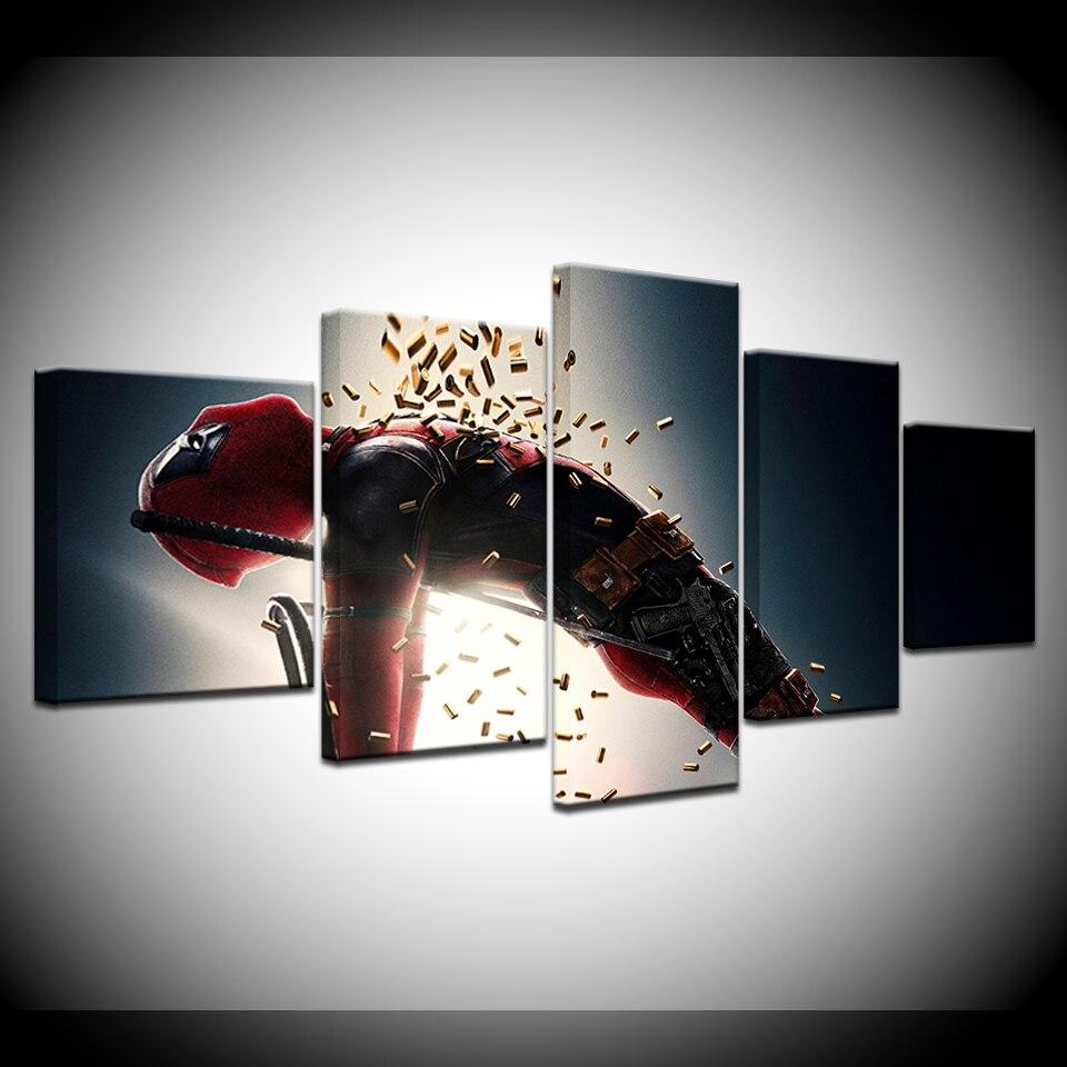 Дэдпул 2 Супермен фильм 5 шт HD обои искусство холст печать современный постер модульная художественная живопись для гостиной домашний декор