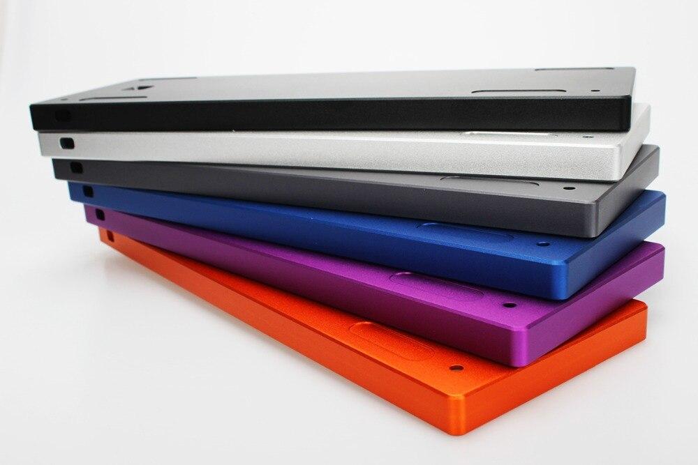 NPKC נמוך פרופיל CNC Anodized אלומיניום מקרה עם סוללה חריץ עבור 60% מכאני מקלדת DIY מתאים GH60 A60 XD60 XD64 poker2 וכו'