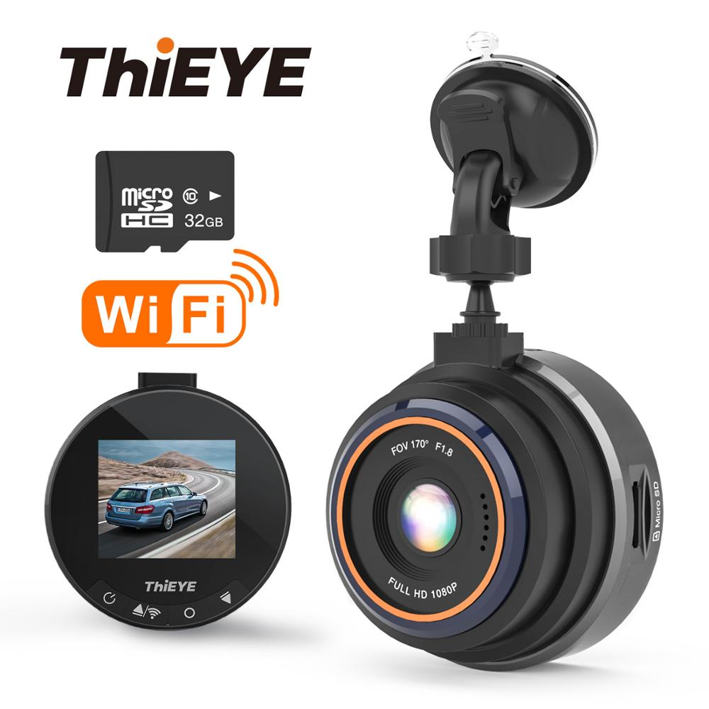 ThiEYE Safeel Zero+ Dash cam WiFi Car DVR Real HD 1080P 170 Wide Angle With  G-Sensor Parking Mode Car Multi-angle camera