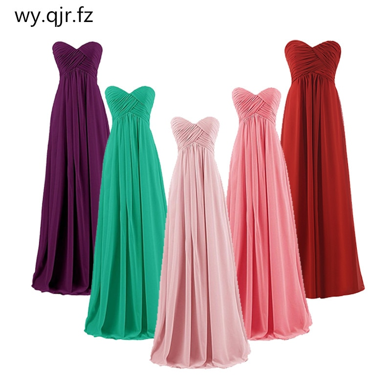 QNZL-73#Ball Gown Strapless Plus Size Pink Burgundy Long Bridesmaids Dresses Wedding Party Prom Gown Dress Wholesale Free Custom