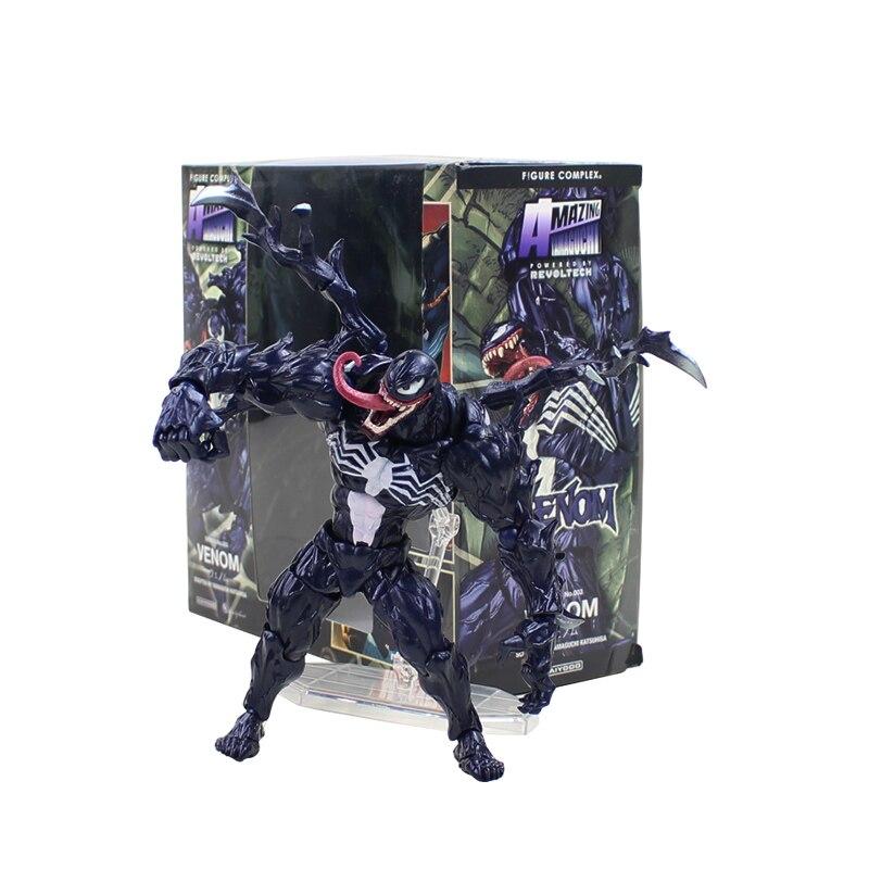 Juguetes De figura de Hombre Araña de 18cm Venom PVC figura de acción Spiderman juguetes de modelos de colección regalos de cumpleaños