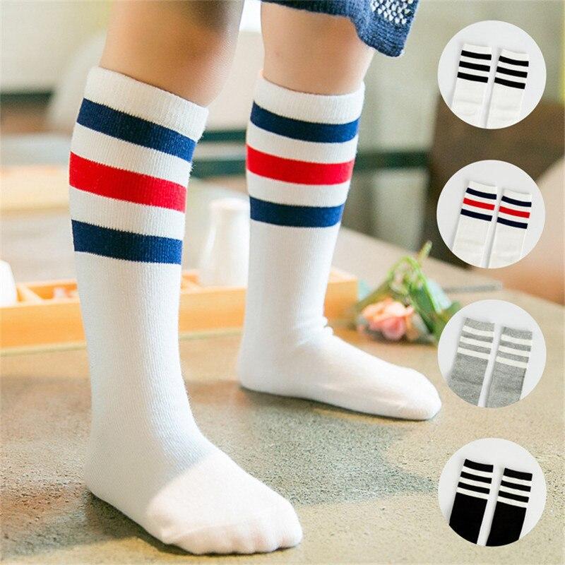 2019 New Arrival Spring Autumn Baby Socks Striped Warm Baby Girl Knee High Socks Cute Tube Kids Meias Vertical Striped Sokken