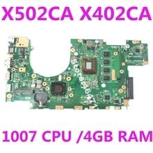 X402CA Motherboard REV2.1 1007 4G Memory For ASUS X502CA X402CA Laptop motherboard X402CA Mainboard X402CA Motherboard 100% Test
