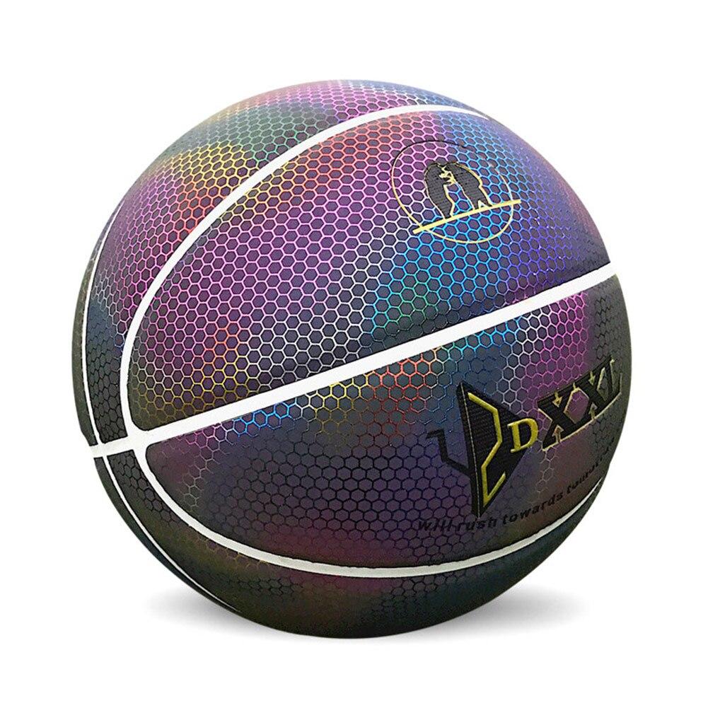 Nueva pelota de baloncesto de Arcoiris para hombre, colorida, luminosa, para interior/exterior