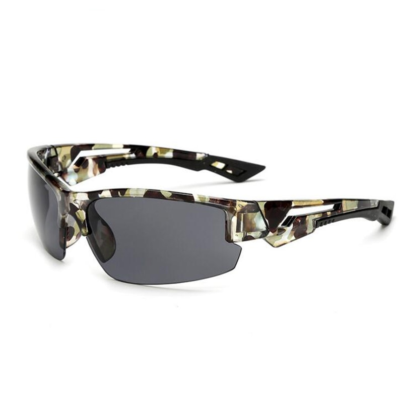 Gafas De Sol De camuflaje a la moda para hombre y mujer, gafas De Sol De conducción deportivas para pescar, gafas De Sol De marca De diseñador con montura De camuflaje