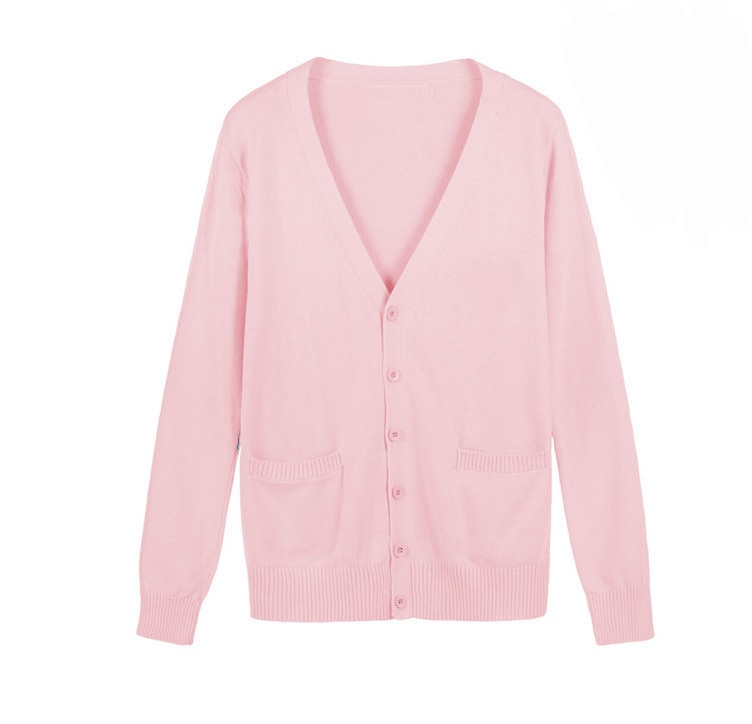 Meninas japonesas cardigan camisola amor ao vivo cosplay traje amor ao vivo nico yazawa camisola uniforme escolar rosa