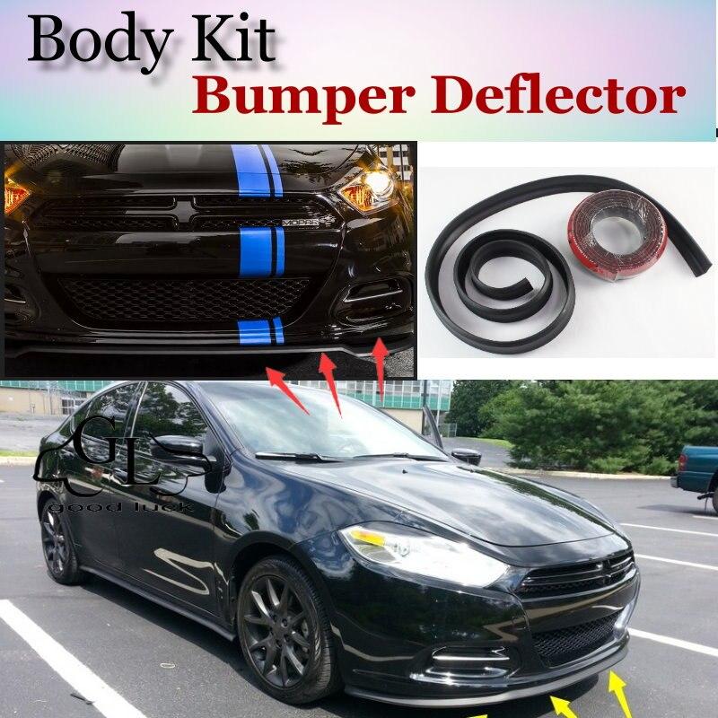 Lèvres de déflecteur de lèvre pour Dodge Dart   Jupe avant de Spoiler pour TopGear Friends à la voiture, vue de réglage/Kit de carrosserie/bande