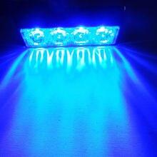 4 colors 4W 4LED Warning Grille Hazard Emergency Beacon Flash Strobe Signal Light caution light