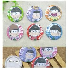 6 pièces/ensemble Anime Badge Osomatsu san famille Jyushimatsu Karamatsu Choromatsu drôle Badge sac à dos broche