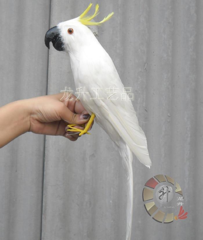beautiful Cockatoo toy polyethylene & furs simulation white bird doll gift about 43cm 1386