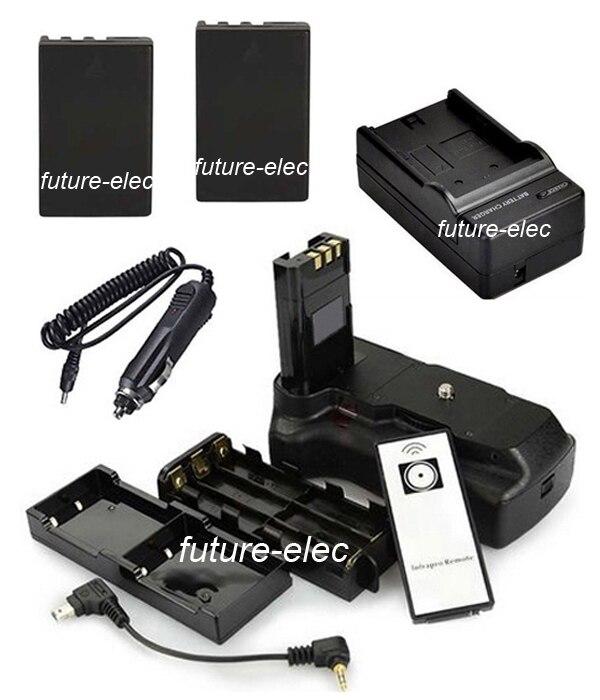 Poder Vertical del obturador de la mano de agarre titular de la espera para Nikon D40 D40x D60 D3000 D5000 Cámara + 2 EN-EL9 ENEL9 + cargador de coche