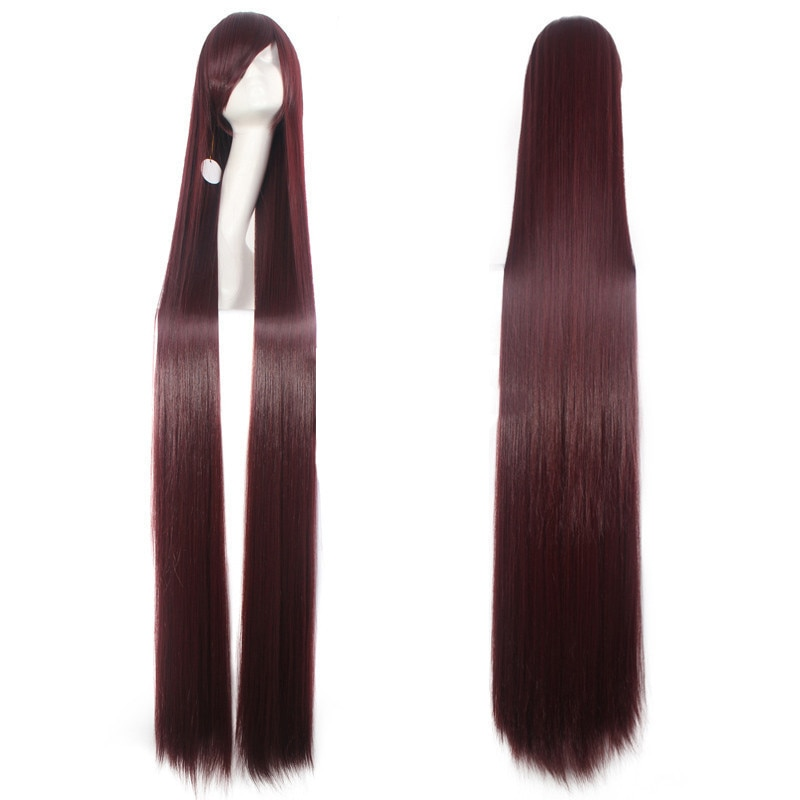 150CM 59'' Long Straight Wigs women Fiber Hairpiece Heat Resistant Synthetic Hair anime Cosplay Wig Party Costume Accessories