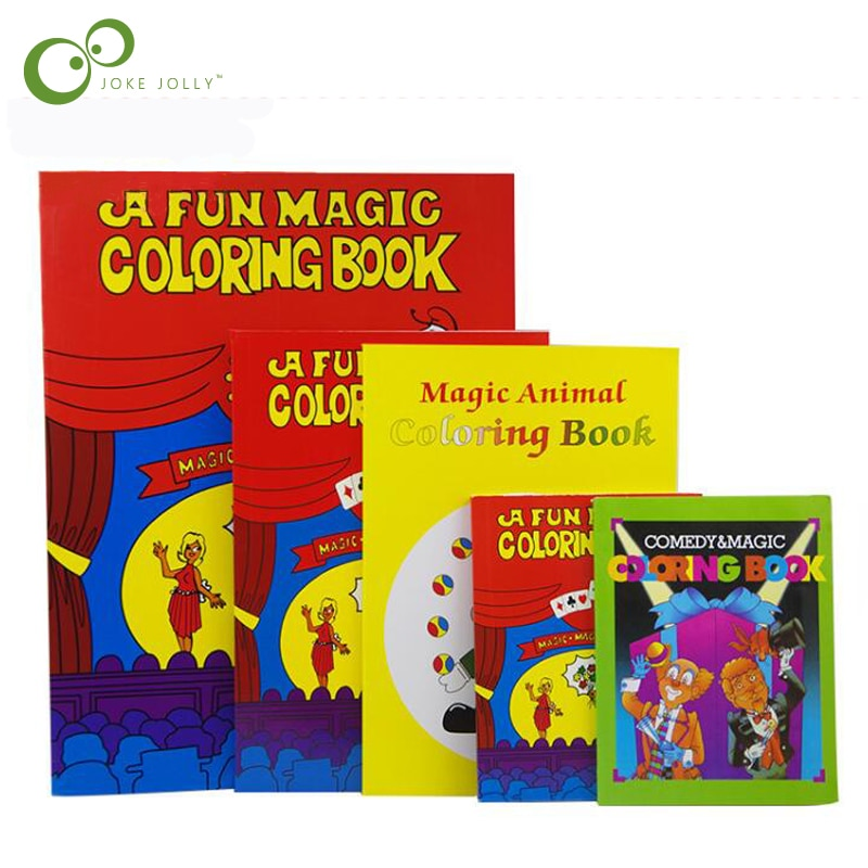Забавная Волшебная книжка-раскраска волшебные карты для фокусов лучшие для детей Волшебная книга реквизит для сцены мерцающий ментализм смешной WYQ