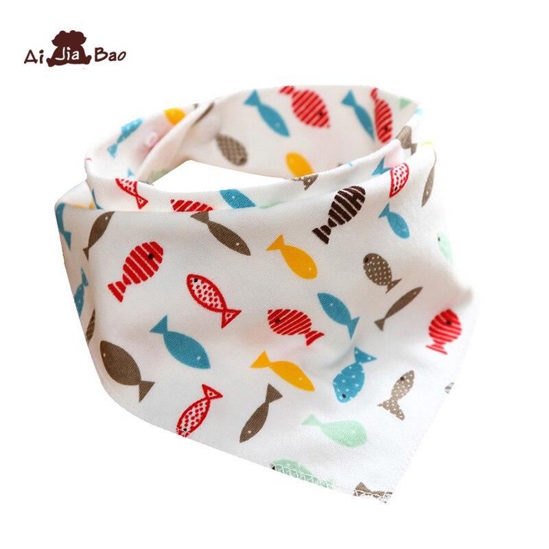 Bebé 100% de algodón recién nacido Baberos de bebé bonitos alimentación babero de bebé enfermería Bandana eructo tela para niñas doble cara bebé pañuelo