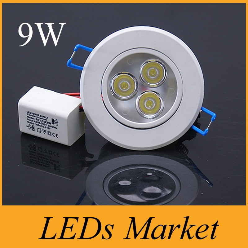 New arrival branco shell 9 w 12 w Levou Downlight dimmable Levou recesso luzes lâmpada AC90-260V Frio Quente Motorista branco + UL CE SAA