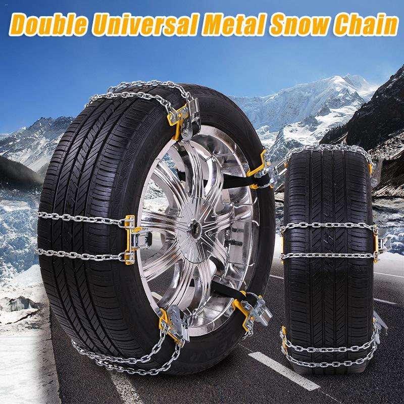 Neumáticos de coche cadena de nieve antideslizante cadena antideslizante fácil aplicación neumático cinturón antideslizante para nieve carretera hielo carretera manganeso acero medio
