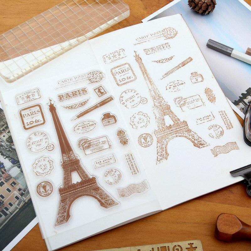 Der Eiffelturm Klare Stempel DIY Silikon Dichtungen Scrapbooking/Karte, Der/Fotoalbum Dekoration Transparent Klar Silikon Stempel