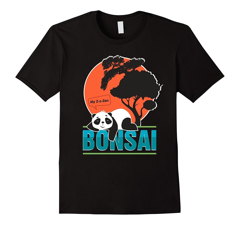 Camiseta bonsái árbol regalo para los amantes del Yoga. Panda oso camisetas de verano de manga corta novedad 2017 camiseta de verano