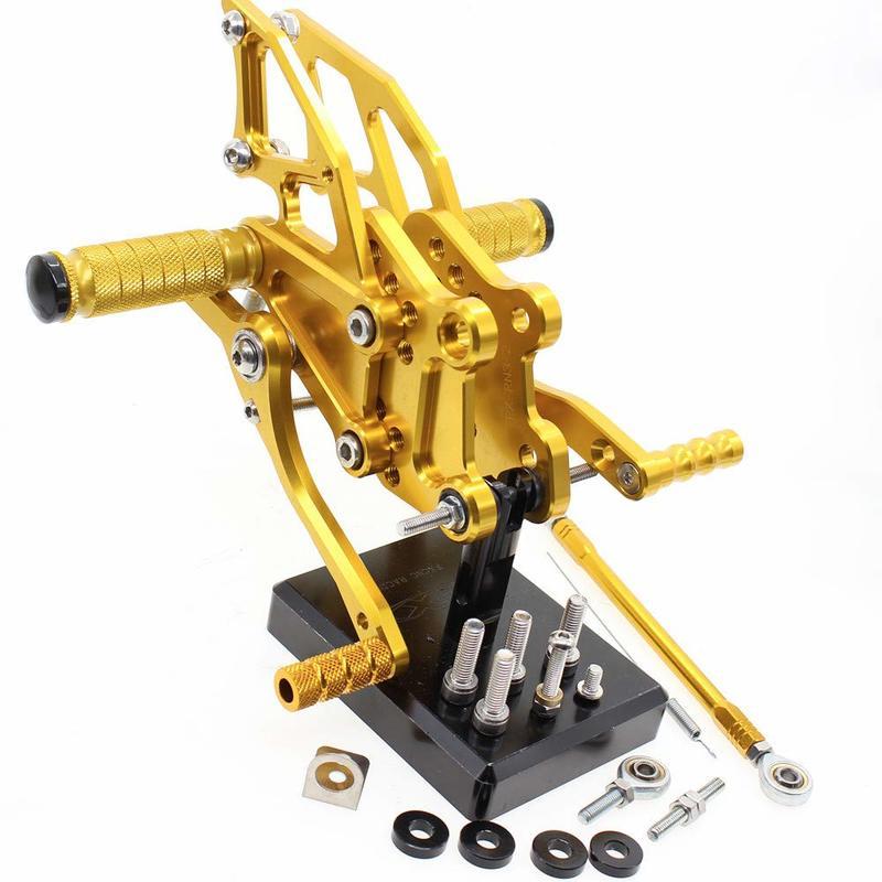 Reposapiés ajustables pedales juego de reposapiés trasero para YAMAHA YZFR25 YZF R3 MT-03