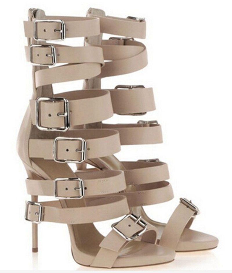 Sandalias 2016 para Mujer, zapato femenino, nueva moda, alta calidad, tacón alto con correa, zapatos de Sandalias Mujer, Sandalias gladiador