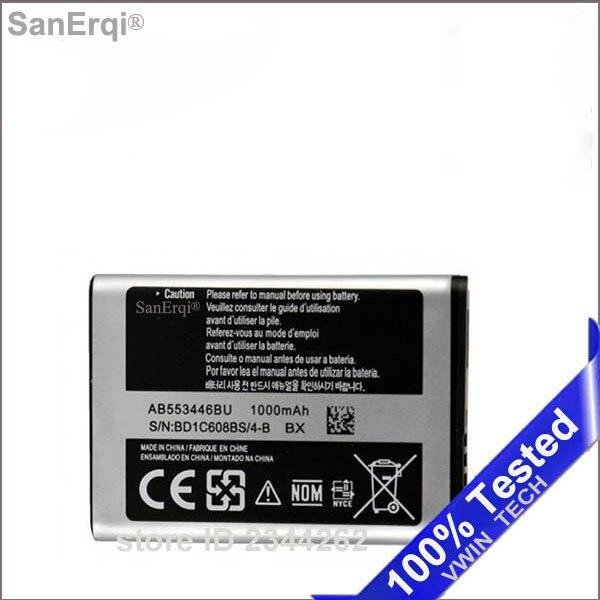 1000 mAh AB553446BU pour Samsung B2100 C3300 Xplorer B100 SCH-B619 C3300K C5212 Duos C5212i C5130 1000 mAh Batterie