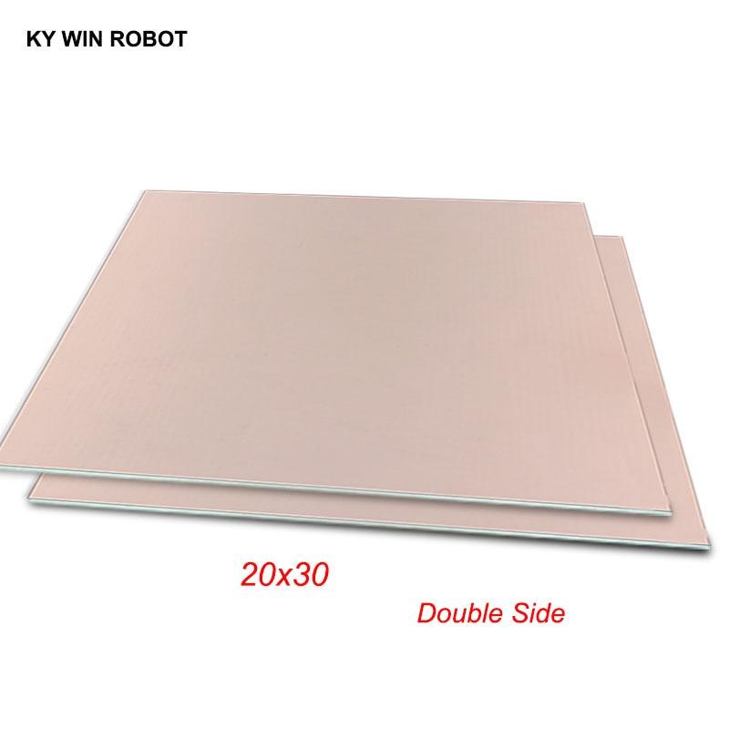 1 шт. FR4 PCB 20*30 см двухсторонняя медная плакированная пластина DIY PCB Kit ламинатная печатная плата 20x30 см 200x300x1,6 мм