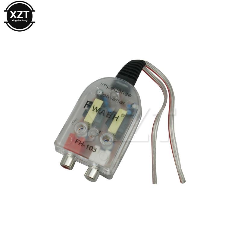 Высококачественный адаптер от динамика к RCA, высококачественный адаптер от высоких до низких разъемов, автомобильный линейный аудио Comverter, усилитель звукового сабвуфера для автомобиля