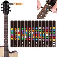 Waterproof Universal Guitar Fretboard Stickers Notes Labels Fingerboard Fret Stickers Markers