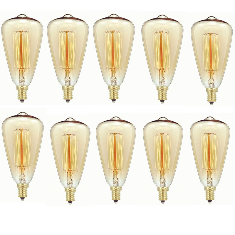 Лампа накаливания Эдисона 40 Вт E14 ST48 с регулируемой яркостью винтажный светильник Эдисона 40 Вт теплый белый 220-240 В