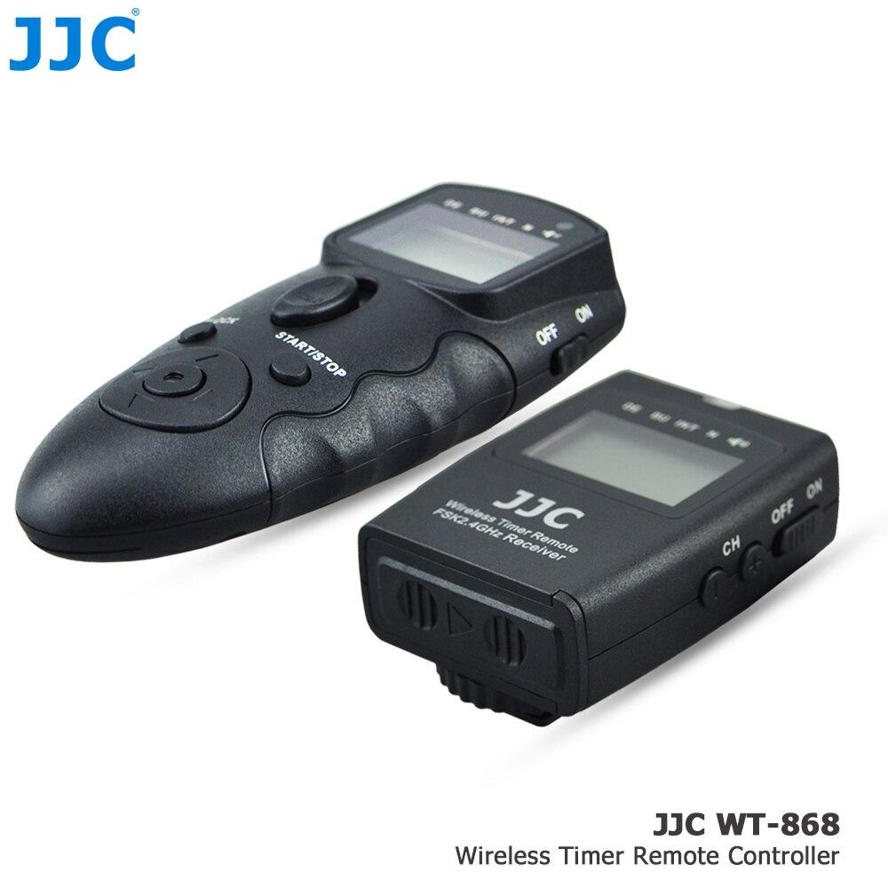 JJC 2.4GHz DSLR RF Wireless Timer Remote Control 56 Channels Controller for SAMSUNG SR2NX02 Compatible Cameras