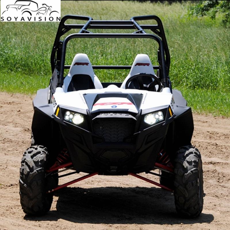 Accesorios ATV luces Led Atv faros Polaris RZR XP 900 nuevos faros LED Polaris RZR 800 LED NEGRO faros delanteros del proyector