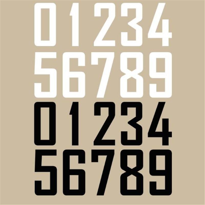 Sweet icono de calle 25CM Número 0-9 parche impresión pegatinas Logo hierro en transferencia termocollares parches para camiseta para ropa