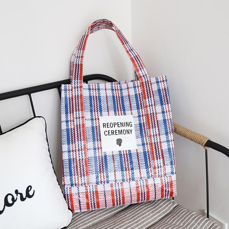 Nova marca xadrez artesanal totes tecido casual feminino causal macio bolsa grande capacidade retalhos aberto sacos de ombro férias
