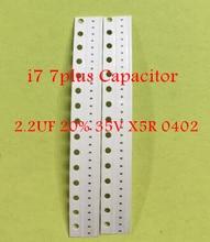 20pcs 아이폰 7 7plus 커패시터 C3725 C3704 C3705 C3706 C3721 2.2 미크로포맷 20% 35V X5R 0402