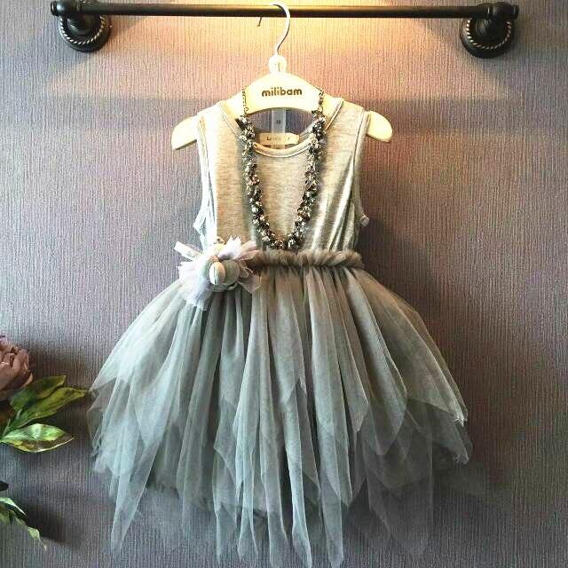 2019 NOVEDAD DE VERANO Chaleco de encaje de niña de fiesta vestido bebé niña vestido de princesa para niños disfraz ropa niños vestidos de novia vestido de fiesta