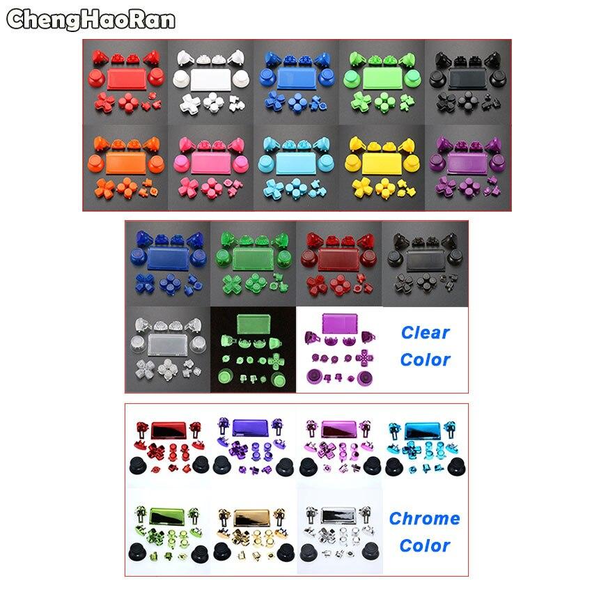 Juego completo L1 R1 L2 R2 botones de disparador Dpad palillos para PS4 Pro controlador para PS4 4,0 JDS-040 Kit de botones de JDM-040