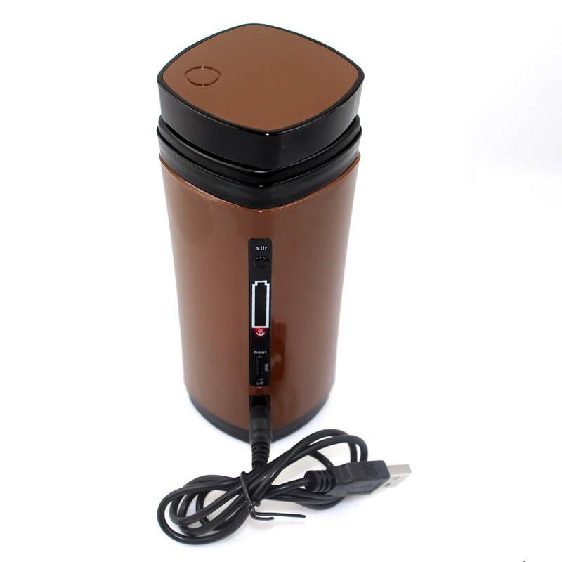 Mezclador eléctrico portátil fabricante de calentador taza de café usb taza mezcladora de café calentador térmico máquina de cocina