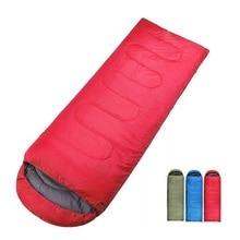 Camping en plein air enveloppe sac de couchage thermique adulte hiver sac de couchage en plein air voyage lit de couchage livraison directe